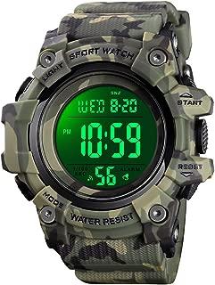 VIVIKEN Kids Watch for Boys Girls Digital Outdoor Sport Waterproof EL-Lights Wristwatch with Alarm Luminous Stopwatch Casual Military Child Wrist Watch Gifts for Kids