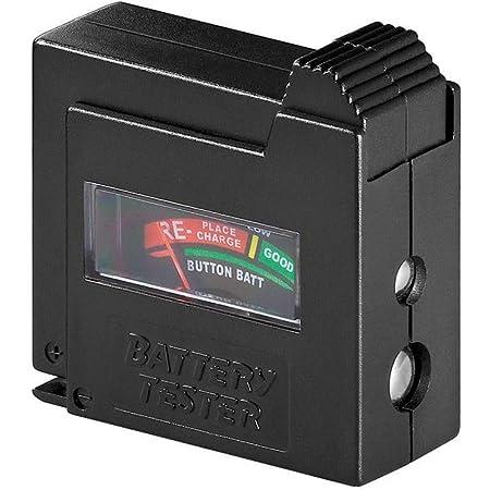 Goobay 54020 Probador de batería para AAA, AA, C, D, 9 V, N y células de botón