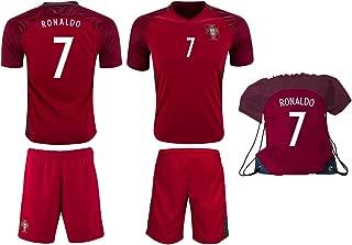 Portugal Ronaldo #7 Soccer Jersey Shorts Kit Kids Youth Sizes YL YM YS