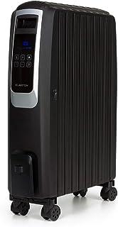KLARSTEIN Thermaxx Noir radiador de Aceite - 2500 W de Potencia, 3 Niveles, Temperatura Entre 10 y 30° C, programable 24 h con Apagado y Encendido, MX-ThermalFin con 10 Pliegues calefactores, Negro