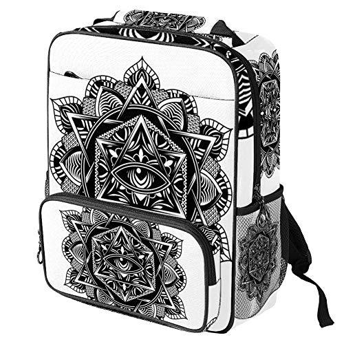 TIZORAX School Bag for Girls Boys Student Bookbag All Seeing Eye Art Women Travel Backpack Casual Daypack Travel Hiking Camping