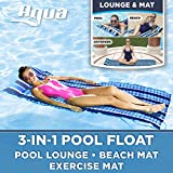Aqua 3-In-1 Roll-Up Pool Float,...