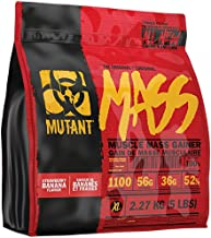 Mutant MASS Gainer, Ultimate Size and Strength Gainer For Putting On Those Wanted Pounds, Vanilla Ice Cream, 5 Lbs