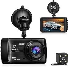 Dual Dash Cam Dash Board Camera, Ananteke 4inch Front and Rear FHD 1080P LCD Screen Dash Camera for Car, Motion Sensor, G-Sensor, Night Vision, Parking Monitor, Loop Recording