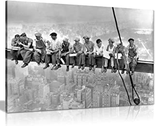 wonbye Lunch ATOP A New York Skyscraper Canvas Wall Art Picture Print,for Home Modern Gallery Decoration Print, 12 x 8 Inch