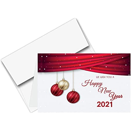 Blue And Orange Personalized Christmas//New Year//Holiday Party Thank You Cards