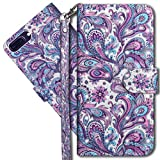 MRSTER Funda para iPhone 6 Plus, 3D Brillos Carcasa Libro Flip Case Antigolpes Cartera PU Cuero Funda con Soporte para Apple iPhone 6 Plus / 6S Plus 5.5'. YX 3D Peacock Flower