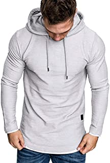 Fashion Men's Hoodie Gym Fitness Workout Loose Short Sleeve, MmNote Slimming Polyester Technology Lightweight Muscle T-Shirt