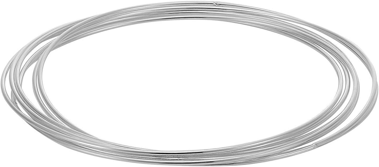 Silverly Women's .925 Sterling Silver Seven 7 Russian Style Wedd