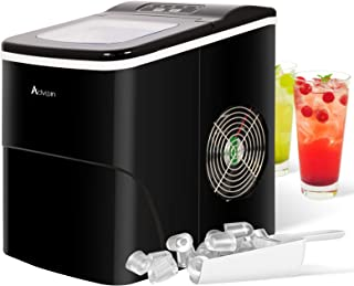 Jodoao 2.2L Ice Makers Machine Countertop Commercial Home, S/L Sizes, Automatic Alarm Prompt, Black