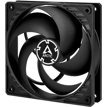 ARCTIC P12 - 120 mm Ventola per PC, Ventola Silenziosa per CPU, Ventola Ottimizzata per la Pressione Statica, Velocità 1800 RPM, 0,3 Sone - Nero