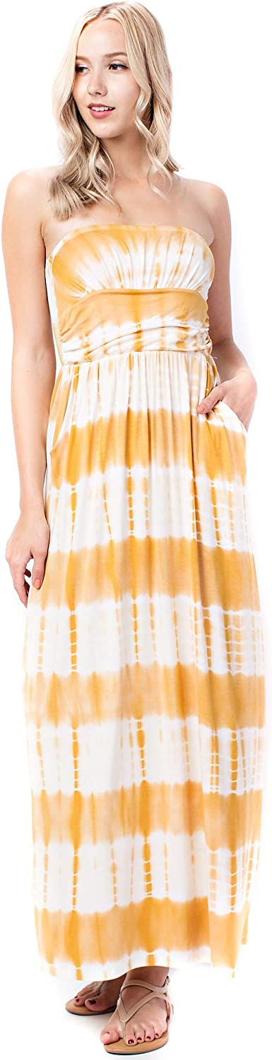 Allora Betsy Red Couture Women's Ruched Strapless Soft Knit Maxi Dress (S3X)
