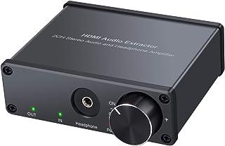 Proster HDMI音声分離器 音量調整でき 4K@30hz 3.5mmジャック 光デジタル・同軸・RCA音声出力