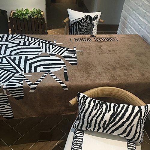 Creek Ywh Manteles Manteles para Muebles De Patio Manteles De Mesa para Fiestas Manteles para Fiestas Zebra Imprimió La Toalla De La Cubierta De La Mesa De Café del Paño De Tabla del Camello Blan