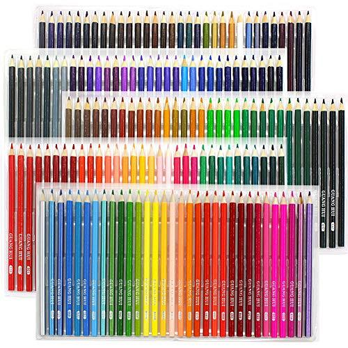 WHK 48 72 120 160 Lápices de Colores para Colorear, Lápices de Colores de Madera de Colores aleatorios Set Dibujo Bocetos Lápices de Colores Suministros de Arte