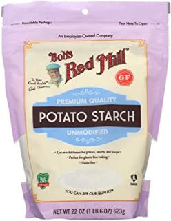 BOB'S RED MILL, POTATO STARCH, GF, Pack of 4, Size 22 OZ - No Artificial Ingredients Gluten Free