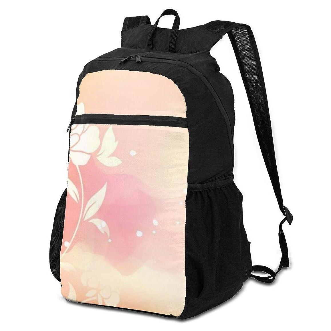 ロードハウス傾向がありますレンディション登山リュック ザック 抽象的な花 バックパック 軽量 防水 通勤 小型旅行 折りたたみ式キャンプ アウトドアバッグ