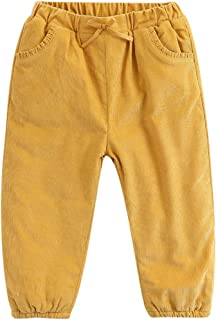d953ee219551a marc janie Little Girls' Winter Corduroy Pants Baby Girls Thick Pants