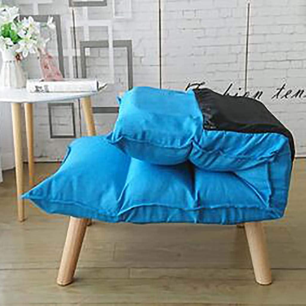 WEWE Chaise de Plancher réglable à 6 Positions Pliante Respirante Chaise Longue Fauteuil de Salon avec fenêtre pour Fauteuil de Repos pour la méditation Lecture-Vert Violet