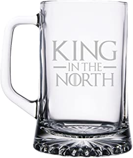 King in the North 15 ounce Beer Mug Glass
