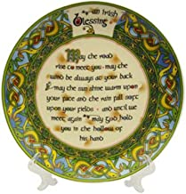 Decorative Plate 8 cm Old Irish Blessing Hanging Decorative Plate May the Road Rise to meet you.. by Royal Tara