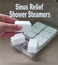 10pc All Natural SINUS RELIEF blend Eucalyptus Peppermint SHOWER STEAMERS with Menthol Very Strong, 15 oz