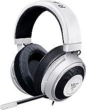 Razer Kraken Pro V2: Diadema de aluminio ligero - Micrófono retráctil - Control remoto en línea - Los auriculares para juegos funcionan con PC, PS4 y dispositivos móviles - Blanco