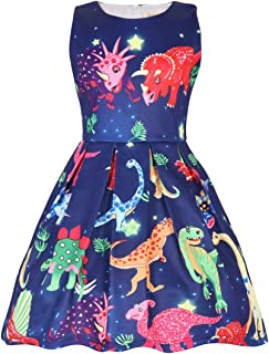 CRAZY GOTEND Toddler Girls BabyRiki Sleeveless Party Dress Casual Dresses,Pink 18-24M