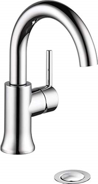 Amazon.com DELTA Trinsic Single Hole Bathroom Faucet, Single ...