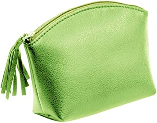 Alassio Genuine Leather Toiletry Bag–and Leather Zip Handbag Holder, 16cm, approx. 15.5x 11x 5.5cm green