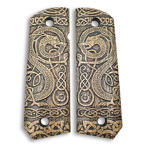 1911 Full Size Bobtail Wood Grips - Celtic Gates