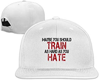 Qwert Unisex Usted Debe Tren Duros como Usted Hate Plana Billed Sombreros Baseball-Caps 1 Tamaño ColorKey