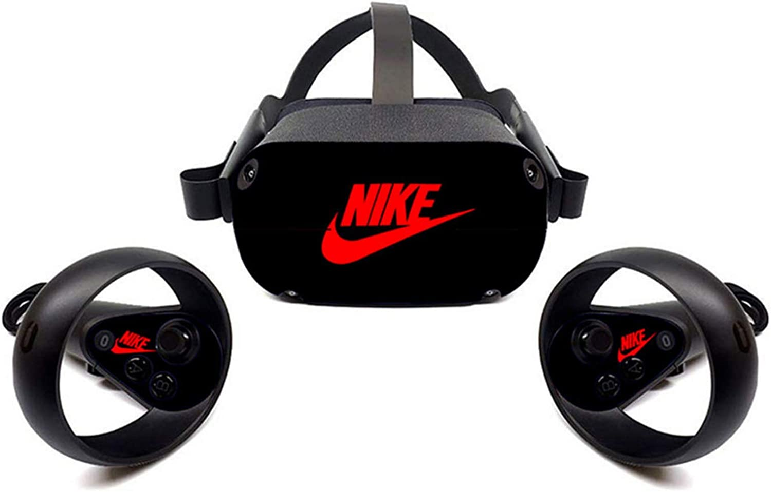 Oculus Quest VR Headset and Controller Sticker, Vinyl Decal Skin for VR Headset and Controller, Virtual Reality Protective Accessories - Black Shoebox