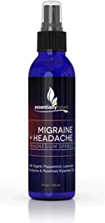 Migraine Headache Relief Spray - 100% Natural Migraine Relief - Made in The USA and of Magnesium Oil and Blend of Essential Oils