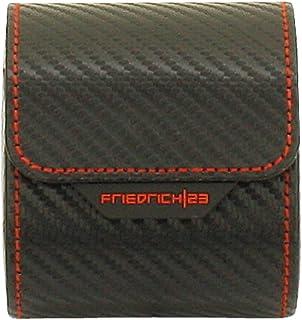 Friedrich 23, rolka zegarka, na 1 zegarek, delikatny syntetyk, 8,5 x 7 x 9,5 cm, zatrzask, karbon, czarny, 32057-2