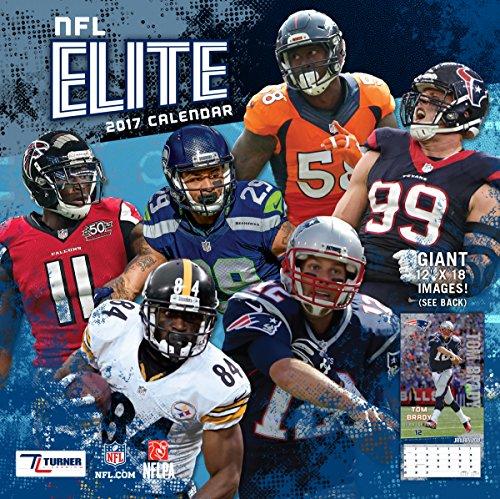 "Turner Licensing Sport 2017 NFL Elite Wall Calendar, 12""X12"" (17998011970)"