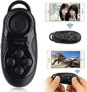 ZZHdd ワイヤレス万能リモコン 万能リモコン ゲームパッド ブルートゥース 携帯リモコン スマートフォン用リモコン 無線コントロール 小型カメラリモコンPCパソコン VR 3Dメガネ 自撮り 音楽操作 など機能付き 操作簡単PCパソコンiPhone、Android スマホ タブレットに対応多機能 無線 リモコンfor iPhone 7/7 Plus/6s/6s Plus/6/SE/iPad/Xperie XZ/X Compact/Huawei Mate 9/Mate 9 Lite /Mate 9 Pro (ブラック)