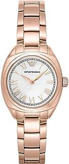Emporio Armani Women's AR11038 Analog Display Japanese Quartz Rose Gold Watch