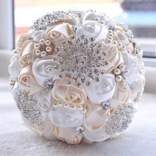 ivory bouquet ivory traditional Bubble pearl wedding bouquet in ivory Pearl bouquet white wedding bride