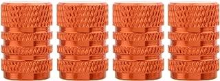 TOMALL Orange Round Style Aluminum Tire Valve Stem Caps for Auto Car Motorcycles