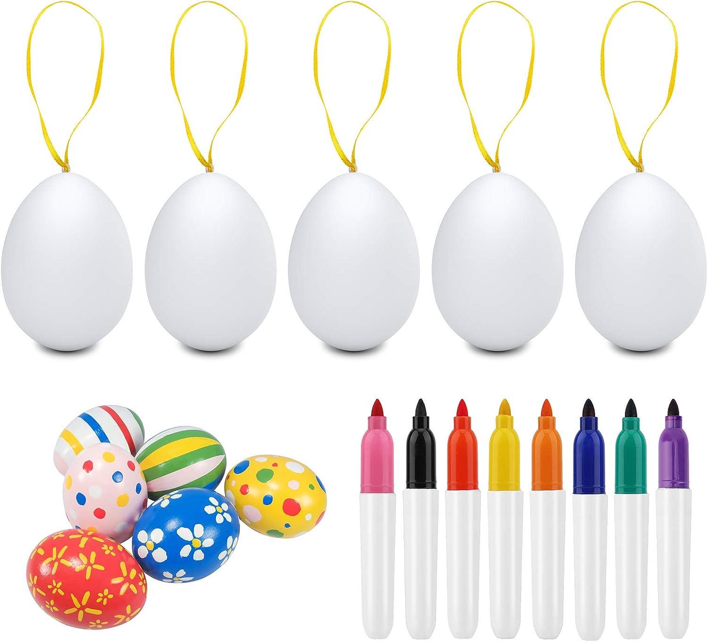 Color/ée 50 /Œufs Color/és de P/âques colmanda /Œuf de P/âques D/écor/és Oeufs en Suspendus avec Corde Peinture de Bricolage de Paques Blanc pour La D/écoration et Les Cadeaux