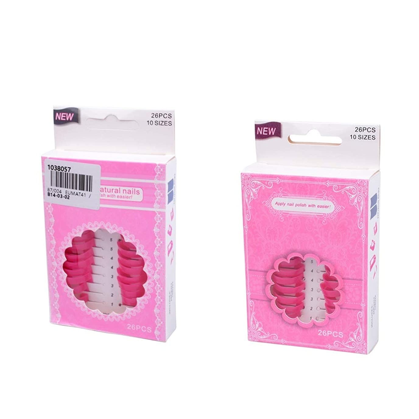 コンベンションナース錆びネイルケア 溢れ防止 52枚入り ネイルプロテクター ジェルネイル ネイルツール 繰り返し利用可 プロマニキュア ピンク