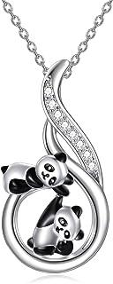 Anhänger Edelstahl  Panda Emailliert B.21 mm,H.22mm,Edelstahl Kette L.35cm,B.2mm
