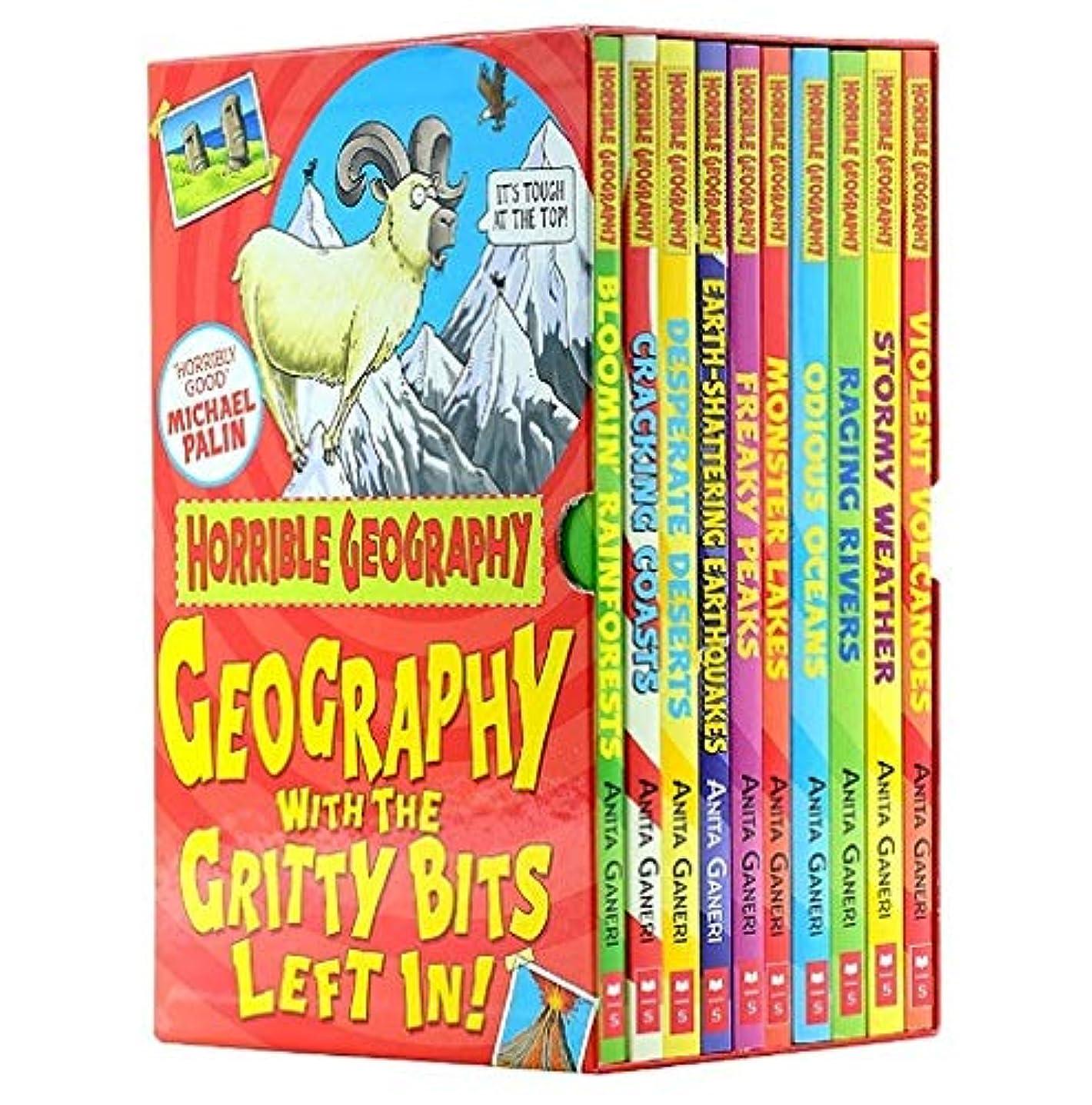 船尾命令的面白いHorrible Geography 10 Book Boxset