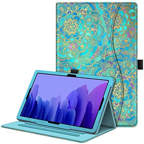 Fintie Hülle für Samsung Galaxy Tab A7 10,4 2020, Multi-Winkel Betrachtung Folio Schutzhülle mit Auto Schlaf/Wach, Dokumentschlitze für Galaxy Tab A7 10.4 Zoll SM-T500/T505/T507, Jade
