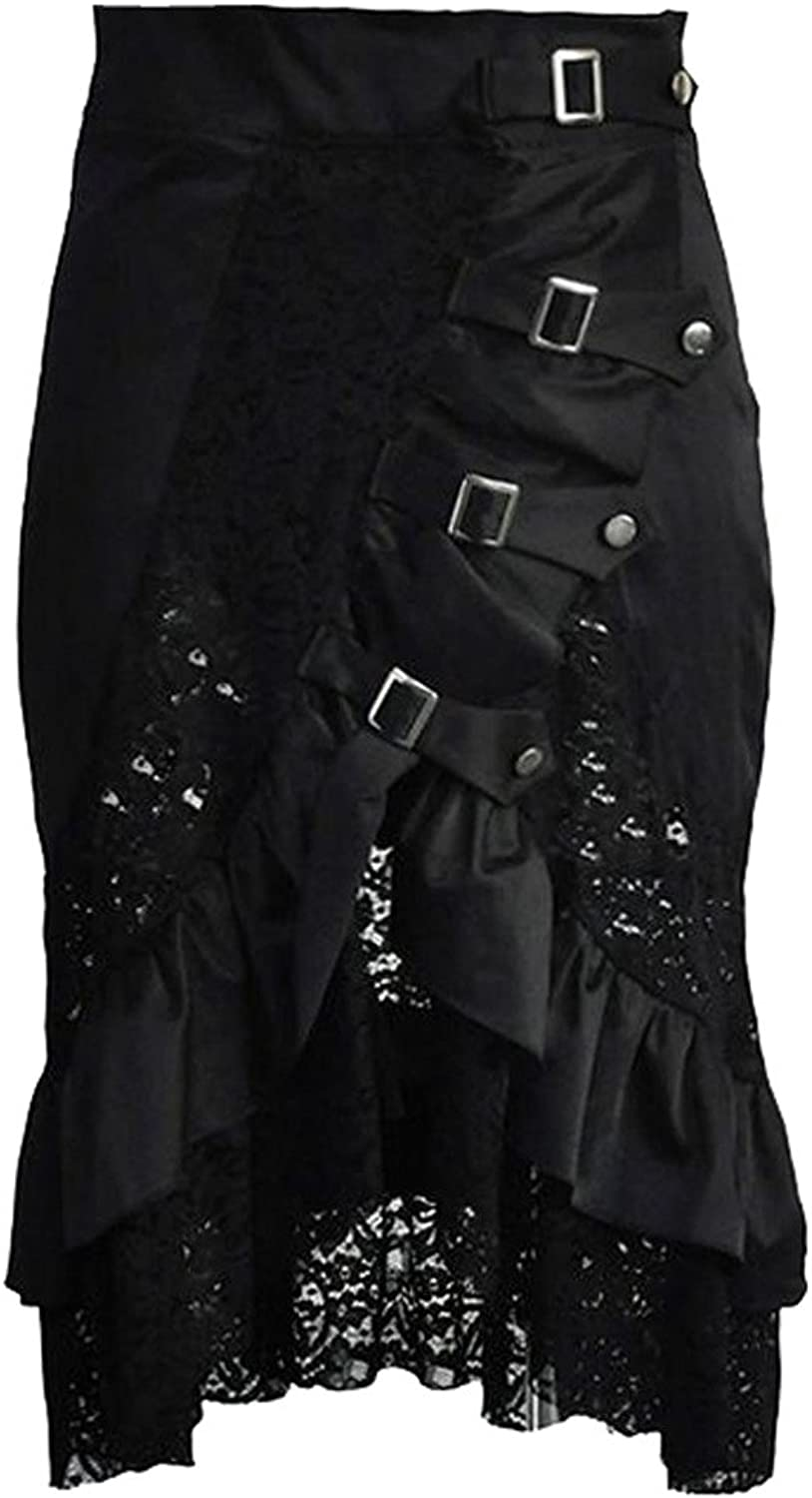 Alivila.Y Fashion Women's Vintage Steampunk Victorian Goth Lace Party Skirt