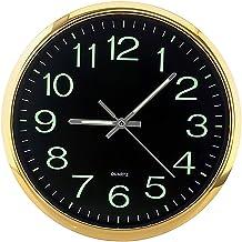 LOVIVER Silencioso Não-Relógio Grande 12-Relógio de Parede Polegadas com Luz Noturna para Indoor/Cozinha/Sala de estar de ...