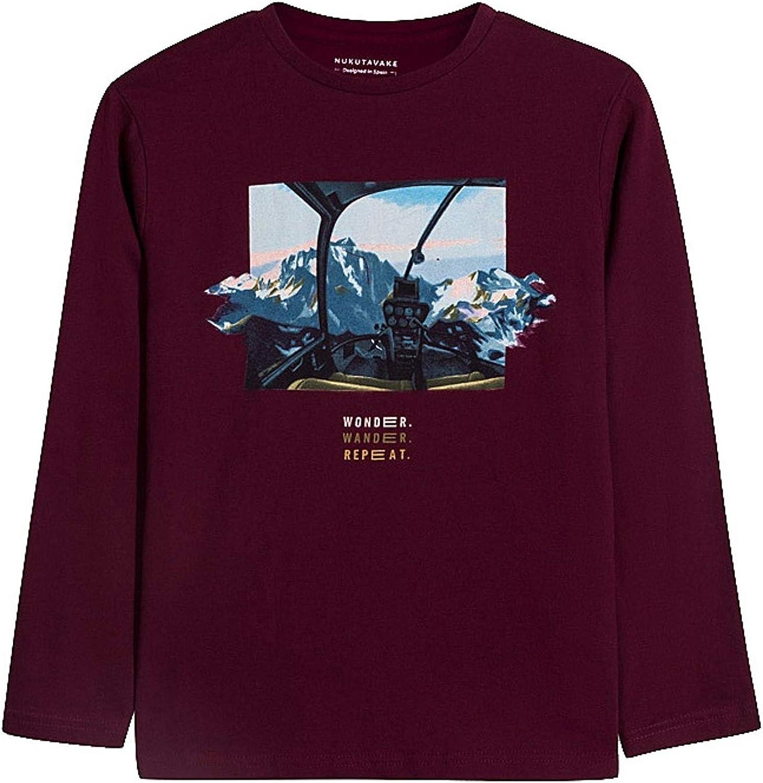 Mayoral - L/st-Shirt 'Wonder' for Boys - 7059, Burgundy