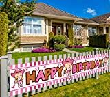 Large Cowgirl Happy Birthday Banner, Western Cowgirl Themed Birthday Party Supplies and Decorations, Rodeo Party Decor for Kids Birthday, Both Outdoor Indoor (9.8 x 1.5 ft)