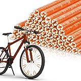 EKKONG Bicicleta Radios Reflectores 48 Palos,Reflectante para Rueda,Bicicleta Ciclismo Reflectante Clips,para Todos los radios de Bicicleta (Naranja)